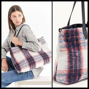 Urban Outfitters Wool Plaid Everyday Tote Bag NWOT